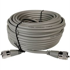 Astatic 50-Ft Rg8x Coaxial Cable Bulk Gray Finish For Use W/ Cb Radios