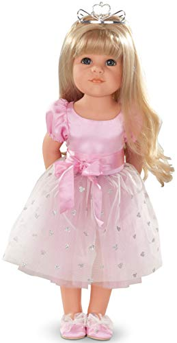 """Gotz Hannah Princess 19.5"""" Blonde Poseable Doll with Blue Eyes and Additional Outfit"""