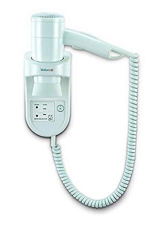Valera Secador de pelo blanco con el cable en espiral y toma de afeitar: Amazon.es: Hogar
