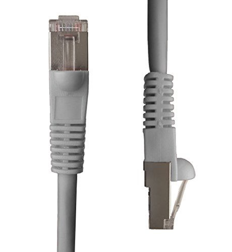 NTW 100' Cat5e Snagless Shielded (STP) Network Patch Cable - Grey - 345-S5E-100GY