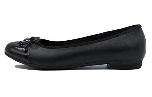 Habillées Ballerine Knixmax Plates Noir Cuir Mocassins Chaussures Femme dRXXfSqg