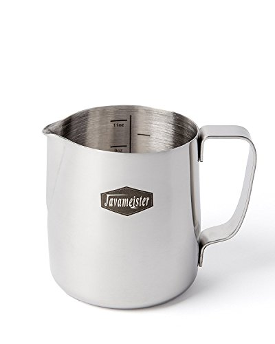 Javameister 12-ounce Stainless Steel Latte Milk Steaming and Frothing Pitcher by Javameister