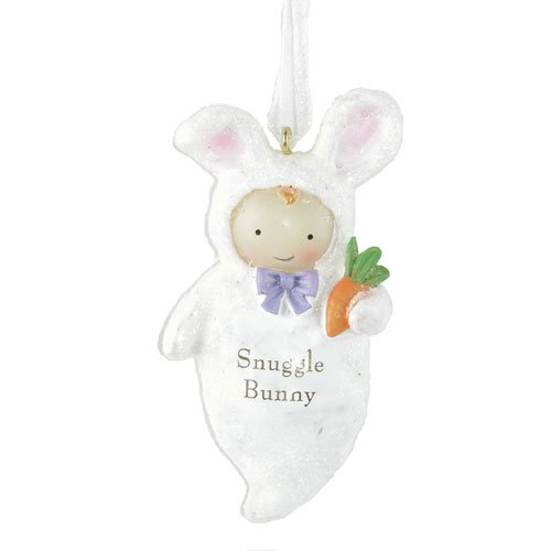 Seasons of Cannon Falls Snuggle Bunny Baby's First Christmas Tree Ornament