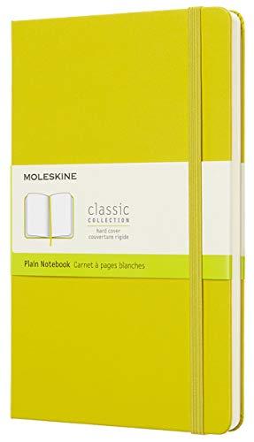 Moleskine Classic Notebook, Hard Cover, Large (5 x 8.25) Plain/Blank, Dandelion Yellow