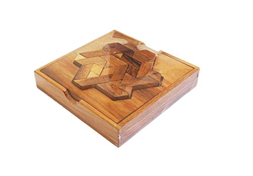(CMStar Portable Pentominoes Hexiamond Wooden Puzzle)