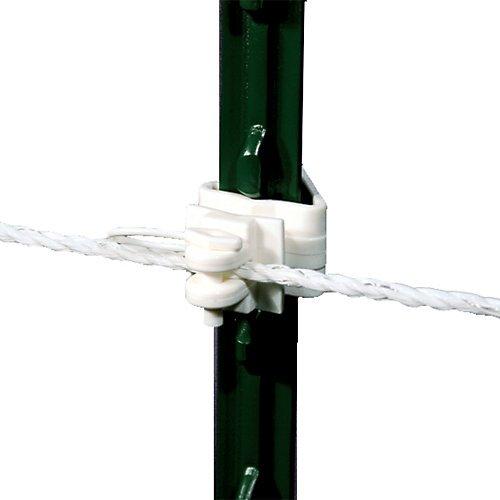 (Powerfields TP-PL25-W Heavy Duty Pin Lock Insulator/T-Post, 25-Pack,)