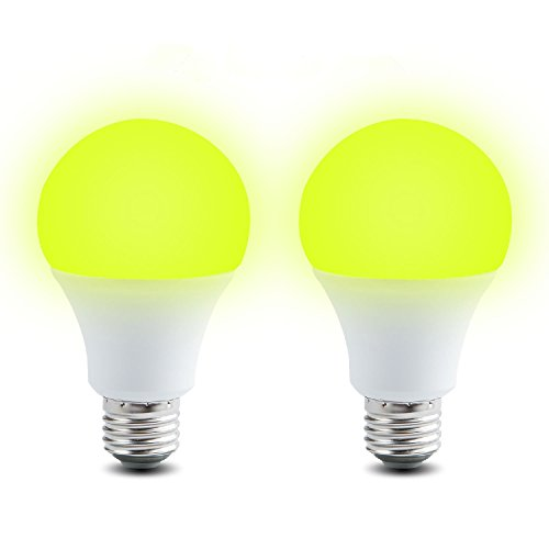 Bug Light Bulb, 7W Yellow Light Upgrade Bug Repellent Light, 660 Lumens E26 Indoor and Outdoor Mosquito Repellent Bulb, 60W Equivalent Home Lighting, 2 Pack ()