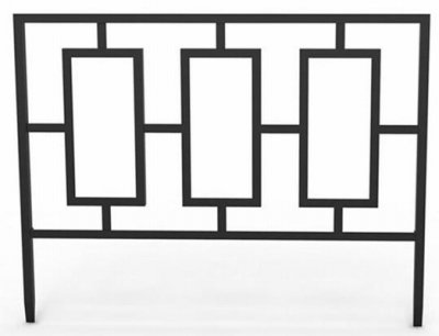 panacea products corp-import 84575 14''H x 18''W, Black, Contemporary Style Border Edge by Panacea Products