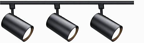 Nuvo Lighting TK319 R30 Straight Cyl K Track Kit, Black