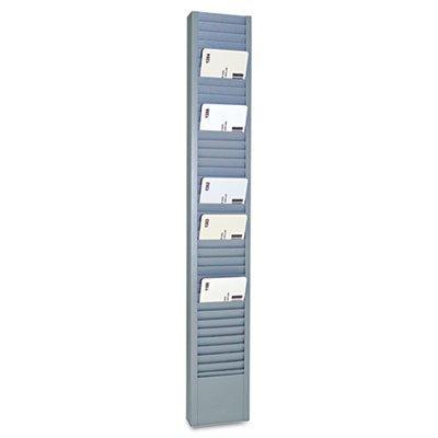 40-Pocket Steel Swipe Card/Badge Rack, 2-15/16'' x 18-11/16''