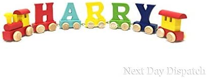 Colour Name, 7 Letter Name Childrens Personalised Wooden Alphabet Letter Train A-Z Name Set All Letters Available