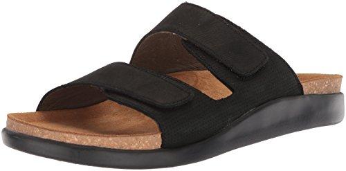 El Naturalista Men N5090 Pleasant Black-b/Koi Flat Sandal Black