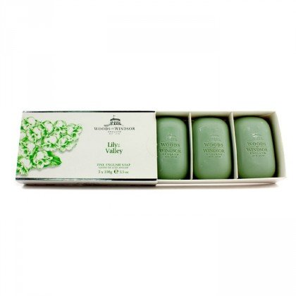 Woods of Windsor Lily of The Valley Fine English Soap for Women, 300 Gram (Russell And Windsor Jasmine And White Lily)