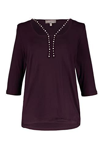 Ulla Popken Women's Plus Size Pearl Accent Straps Knit Top BlackBerry 20/22 718911 80 ()