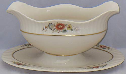 Blossom Gravy Boat (Lenox Temple Blossom Gravy Boat With Attached Underplate)