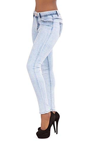 Blue LustyChic Skinny Vintage Faded Fit Light Jeans Jeans Women Stretch xzpwq7x