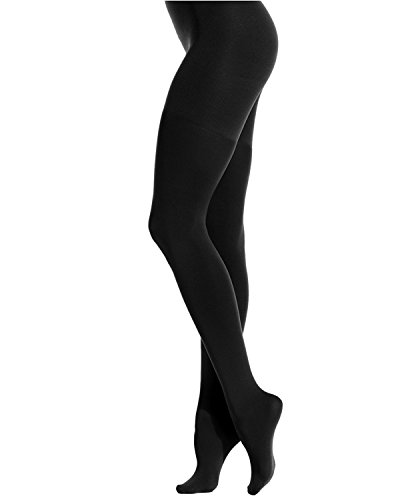 (Star Power by SPANX High Waist Shaping Tights (Size A, Backdrop Black))