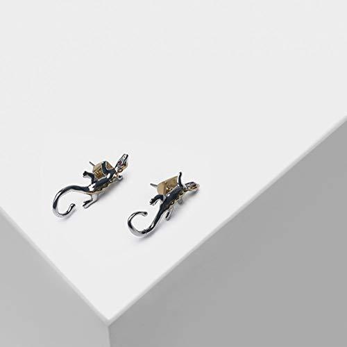 Crystal Lizard Dangle - HUANHUAN Earrings Lizard Styling Design for Fashionable Stud Earrings