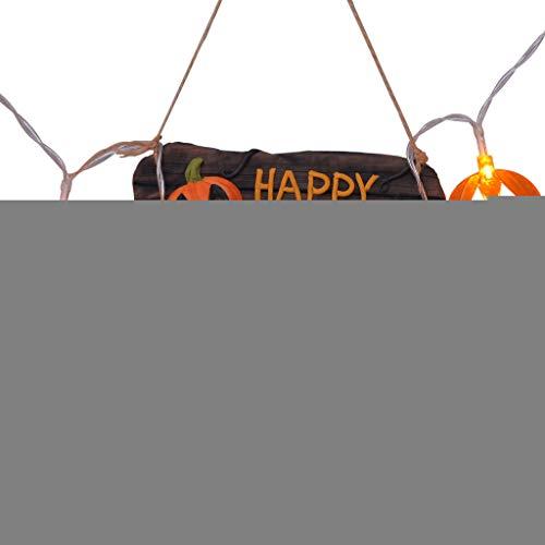 Halloween Decoration Lights DOOIOR LED Halloween Pumpkin Battery Light String]()