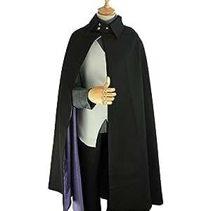 PampasSK Anime Costumes - Anime Boruto Naruto The Movie Uchiha Sasuke Cosplay Costume Full Set Men & Women Uniform ( Cloak + Vest + Shirt + Pants) 1 PCs