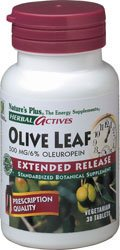 Nature's Plus - Olive Leaf Extract 500 mg, 30 Extended Release Tablets