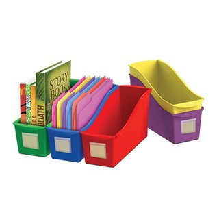 Book Bin 5-pack with Front Pockets (Pack of 6)