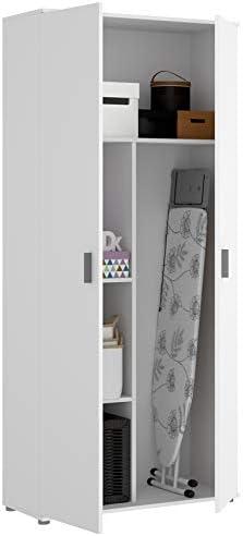 HABITMOBEL Armario Auxiliar Zapatero escobero Blanco Multiusos 2 Puertas. Medidas: Alto 190cm. Ancho 78cm. Fondo 35cm.: Amazon.es: Hogar