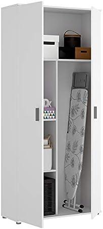 Habitmobel Armoire De Salle De Bain Multifonction 2 Portes Blanc Dimensions Hauteur 190 Cm Largeur 78 Cm Profondeur 35 Cm Amazon Fr Cuisine Maison