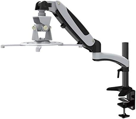 HFTEK - Soporte de mesa para proyectores - Soporte de Monitor - Soporte de Altura Ajustable con Brazo de resorte de gas – GP12DW
