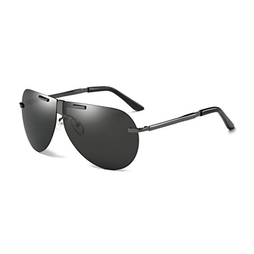 LOMOL Mens Aviator Style Foldable Advanced Trendy Polarized Uv Protection Driving - Glare Night Glasses Anti Uk Driving