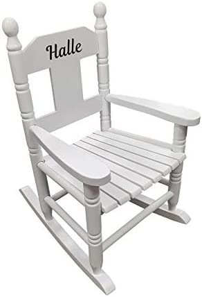 Personalised Kids Chair Rocking Chairs for Nursery Toddler Armchair Childrens Chair with Name On