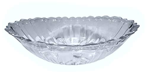 2 Clear Plastic Oval Serving Bowls w/scalloped Edge