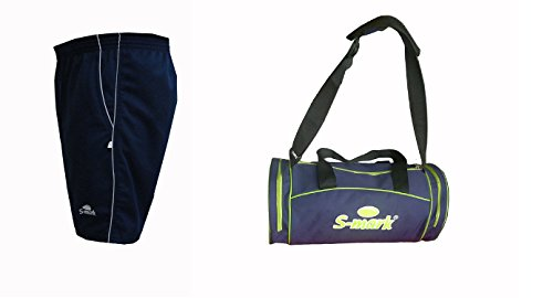 S Mark Sports Shorts with Gym Bag  Navy Blue