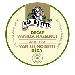 24 Count - Van Houtte Vanilla Hazelnut Decaf Coffee Cup For Keurig K-Cup Brewers