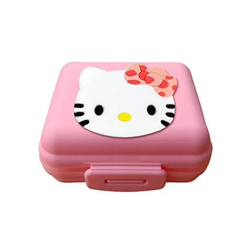 Hello Kitty Cat Pill Box Case Organizer Anime Portable Small Storage Box One Week Sealed Square Travel Seven Grid Color