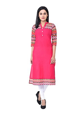 M&D Women's Cotton Kurta Women's Kurtas & Kurtis at amazon