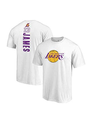 6fd4f6132c9d Fanatics Unisex Los Angeles Lakers Lebron James Backer Name & Number T-Shirt  Small White