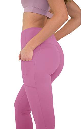 405098a15cd46 90 Degree By Reflex High Waist Tummy Control Interlink Squat Proof Ankle  Length Leggings - Cuban