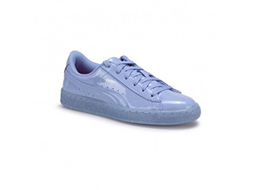PUMA Girls' Basket Patent Iced Glitter Jr Running Shoe, Lavendar Lustre-Lavendar Lustre, 5.5 M US Big Kid
