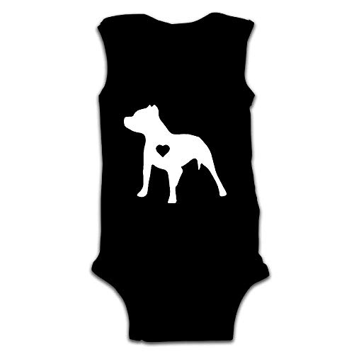 Newborn Infant Baby Love Pitbull Sleeveless Jumpsuit Playsuit