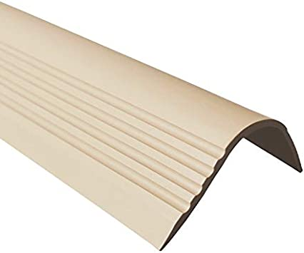 50 x 42 RGP Perfil para bordes de escaleras PVC perfil angular goma vinilo autoadhesivo