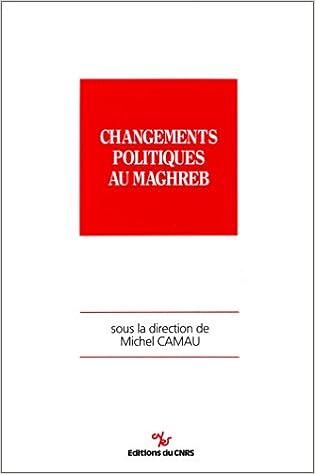 Téléchargement Changements politiques au Maghreb pdf, epub