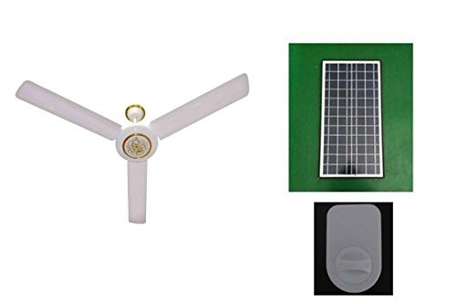 Generic Solar Ceiling Fan and Controller (48 inch) without Mounting Brackets for Solar Panel