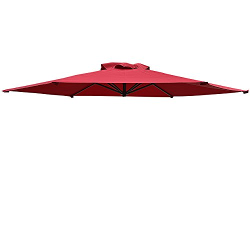 Replacement Patio Umbrella Canopy Cover for 9ft 6 Ribs Umbrella Taupe (CANOPY ONLY)-BURGUNDY For Sale