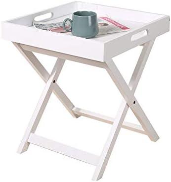 Mesa Mesa esquinera portátil, pequeña Mesa de café Plegable ...