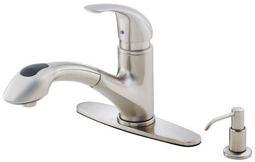faucets danze operates spray electronic with steel tag parma kitchen faucet dual stainless function