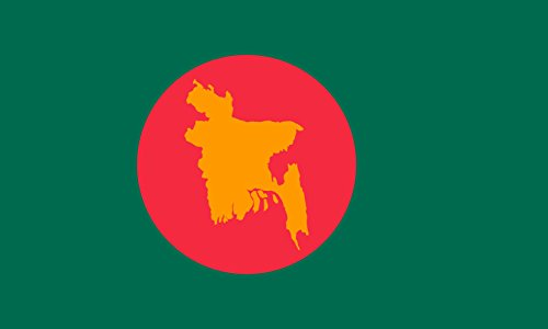 magFlags Large Flag 1971 flag of Bangladesh | landscape flag | 1.35m² | 14.5sqft | 90x150cm | 3x5ft - 100% Made in Germany - long lasting outdoor flag