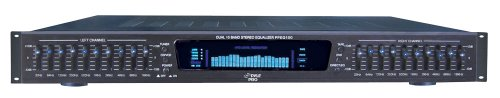 - Pyle-Pro PPEQ100 19'' Rack Mount Dual 10 Band 4 Source Input Stereo Spectrum Graphic Equalizer