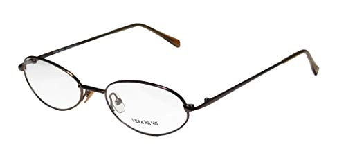Vera Wang V41 Womens/Ladies Rx-able Durable Designer Full-rim Eyeglasses/Glasses (50-18-135, Chocolate)