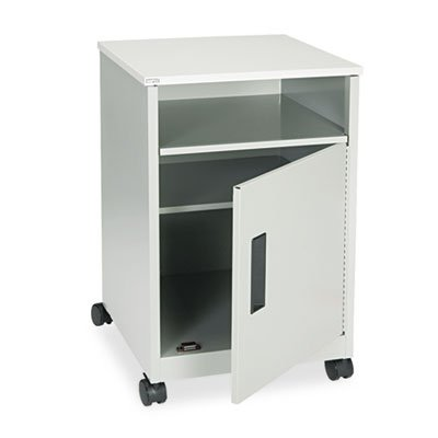 Steel Machine Stand w/Compartment, One-Shelf, 17-1/4w x 17-1/4d x 27-1/4h, Gray, Sold as 1 Each by Safco